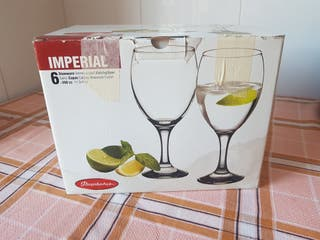 copas de cristal (caja de 6)