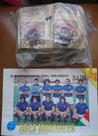 Album +200 sobres cromos MUNDIAL FUTBOL 82 ASES