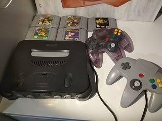 Nintendo 64 con 2 mandos y 5 juegos