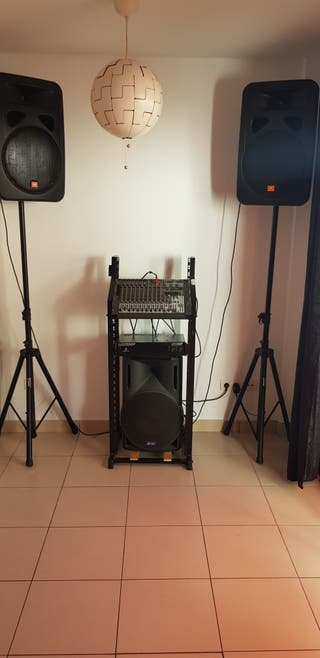 complete sound system with JBL speakers