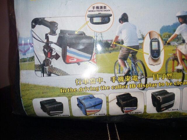 Mini alforja al cuadro bicicleta