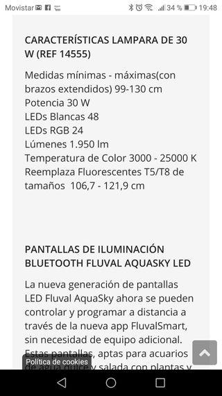 PANTALLA LED BLUETOOTH FLUVAL AQUASKY LED