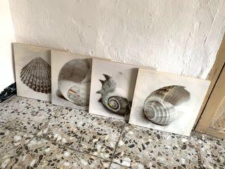 Cuadros (lienzo impreso) Motivos marinos.