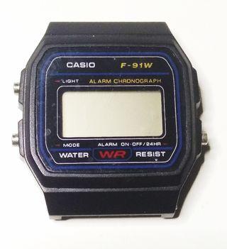reloj casio digital f-91w WR water resist, vintage