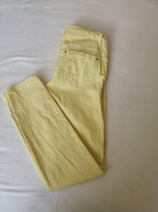 Pantalón, Vaquero, amarillo