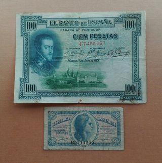 2 billetes de España