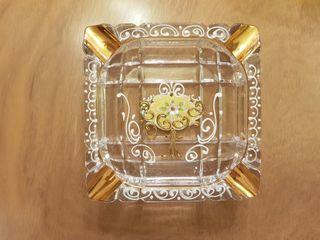 Cenicero de cristal de Murano pintado a mano