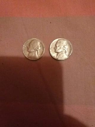 monedas una de 1947y la otra 1964