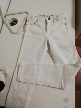 Pantalon tejano blanco