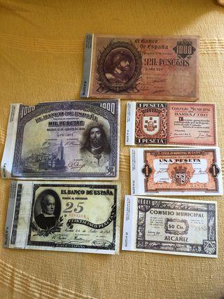 Cromos de billetes