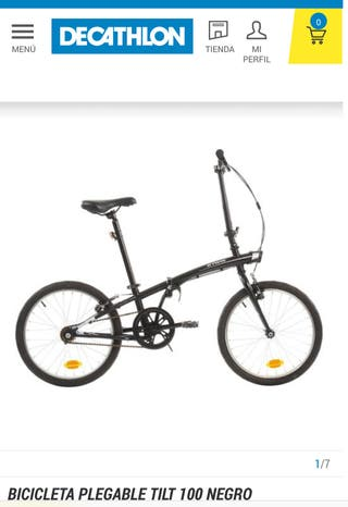 Bicicleta plegable decathlon