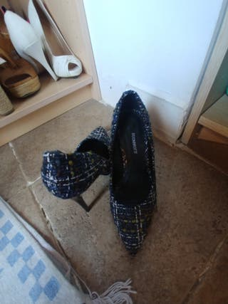 zapatos tacón punta