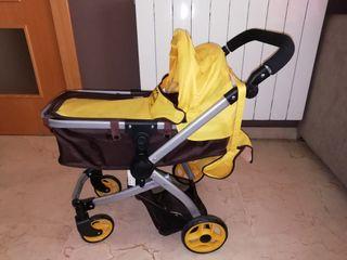 carrito bebe juguete plegable
