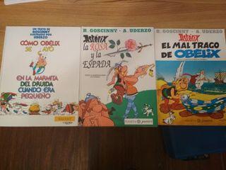 Tres cómics de Asterix en muy buen estado