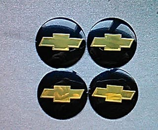 Pegatinas tapabujes centro rueda Chevrolet N 56mm