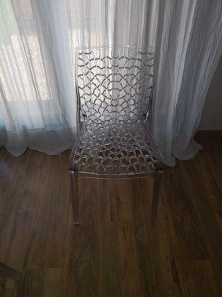 4 sillas salón moderna