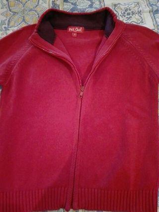 Chaqueta roja algodón talla 8.