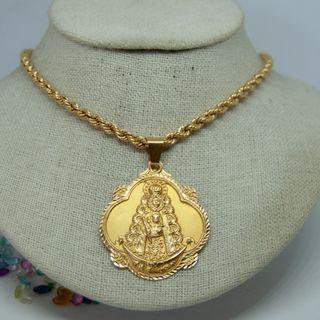 Medalla Virgen del Rocío, oro 18k.
