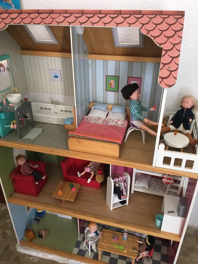 Casa de muñeca de madera Amanda Maison