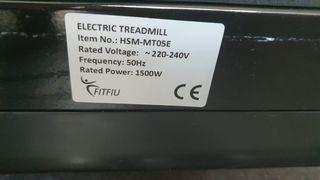 cinta de correr Eléctrica FITFIU