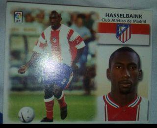 Cromo hasselbaink,atlético de Madrid 99-2000