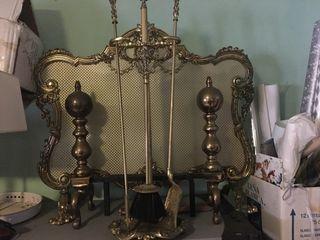 Conjunto de bronce para chimeneas la Orotava