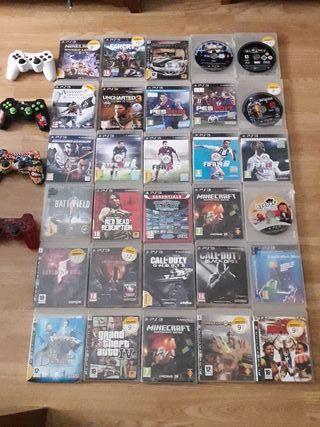 PLAY 3 + 4 mandos + 10 Juegos a elegir !!