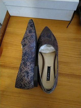 zapato bailarina zara