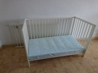 cuna + colchón desenfundable