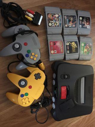Nintendo 64 - n64 con 6 juegos, dos mandos y memor
