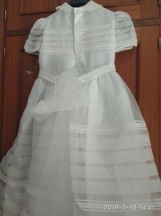 vestido comunion niña talla 12.