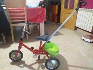 triciclo bici con palo VINTAGE de aluminio
