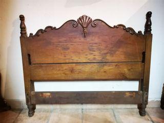Cabeceros de cama antiguos madera castaño