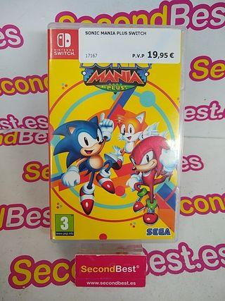 Juego Sonic Manía Plus Nintendo Switch