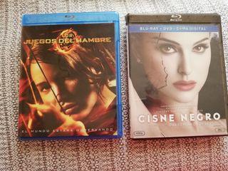 Blu-ray Los juegos del hambre y Cisne negro