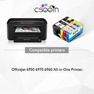 4 cartuchos tinta HP 6950 6960 6970 color y negro