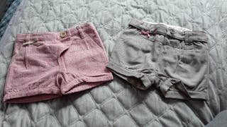 pantalones cortos bebe niña