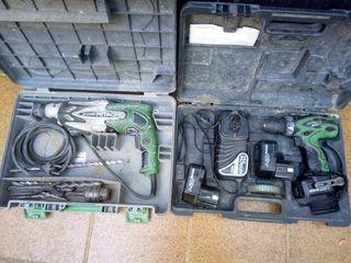 taladro percutor y atornillador a batería a prueb