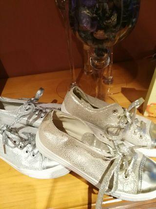 2 pares de zapatillas
