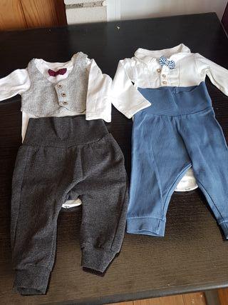 lote dos conjuntos bebe 2-4 meses