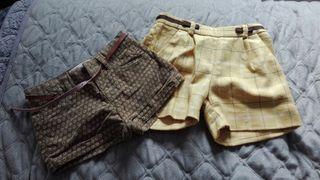 pantalones cortos niña