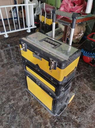 caja carro herramientas stanley