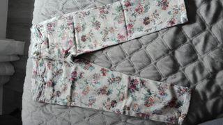 pantalones flores niña