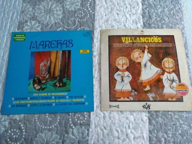 Discos de Vinilo.Villancicos y Marchas