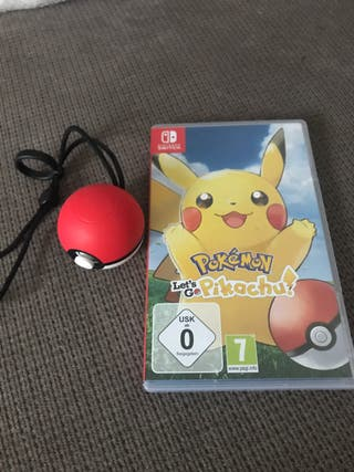 Pokemon pikachu Nintendo switch + pokeball