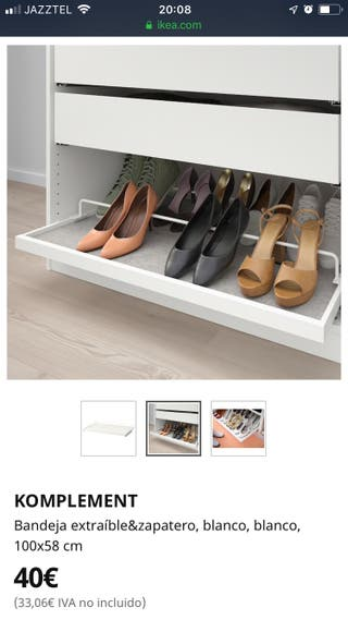 Bandeja extraible Zapatero Komplement Ikea