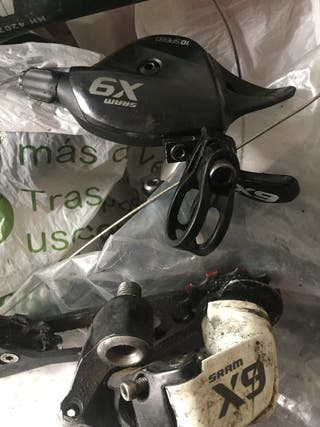 Cambio Sram X9 para 10 V con mando