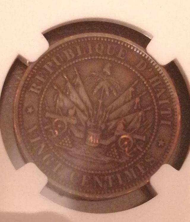 moneda del 1863 de Haití