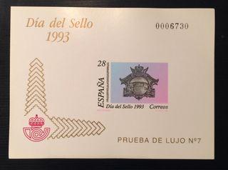 Sello prueba de lujo 1993 día del sello