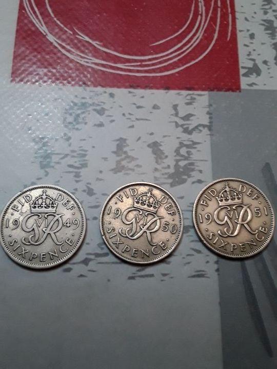 monedas. 6 pence GB.